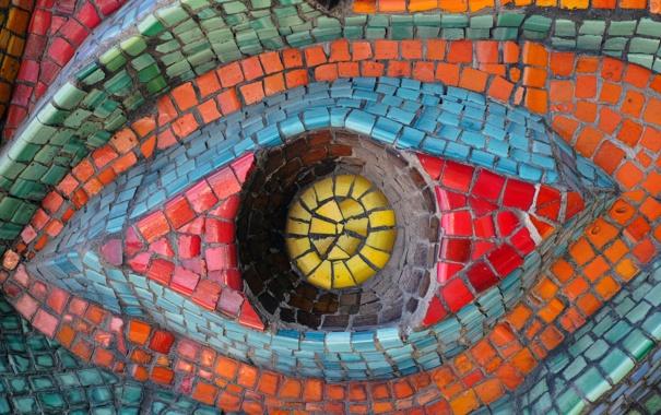 Фото обои eye relief, wall, colors, pattern