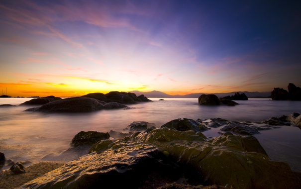 Фото обои море, вода, камни, фото, океан, берег, пейзажи