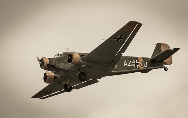 Фото обои самолёт, Юнкерс, транспортный, Ю-52