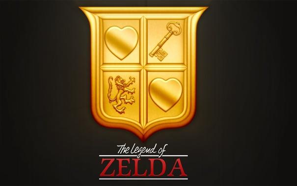 Фото обои logo, NES, Nintendo, legend of zelda gold cartridge