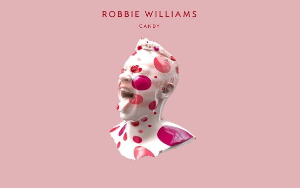 Фото обои Candy, певец, Robbie Williams, розовый, конфета