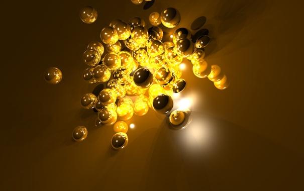Фото обои шарики, абстракция, фон
