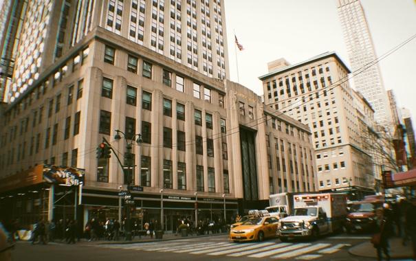 Фото обои USA, New York, Manhattan, NYC, New York City, street, people