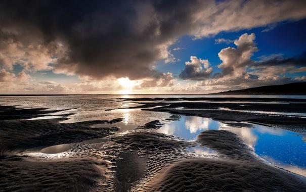 Фото обои море, небо, пейзаж