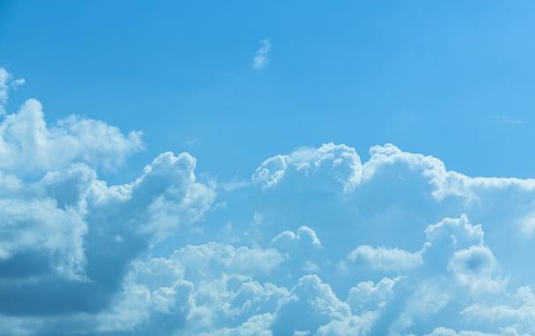 Фото обои облака, солнечный свет, небо, лето