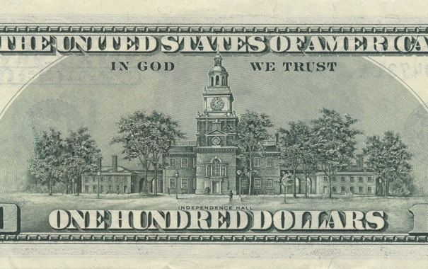 Фото обои green, United States, note, dollar, God, America, public