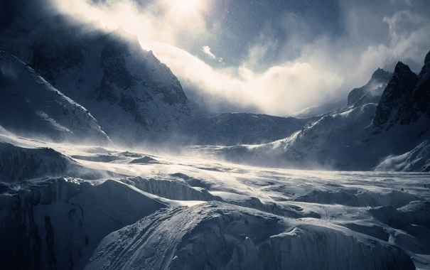 Фото обои снег, горы, snow