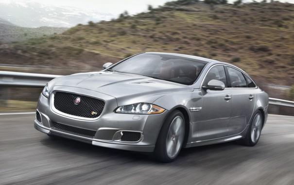 Фото обои машина, скорость, Jaguar, ягуар, XJR