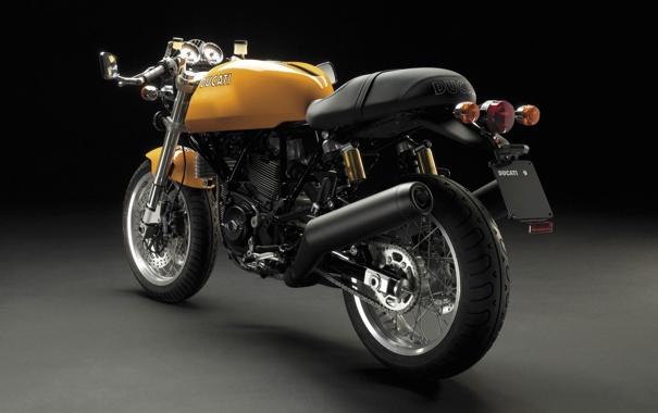 Фото обои Черный, Байк, Мотоцикл, Фон, Мото, Ducati