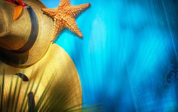 Фото обои лето, отдых, звезда, шляпа