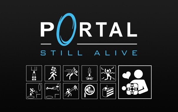 Фото обои портал, portal, still alive
