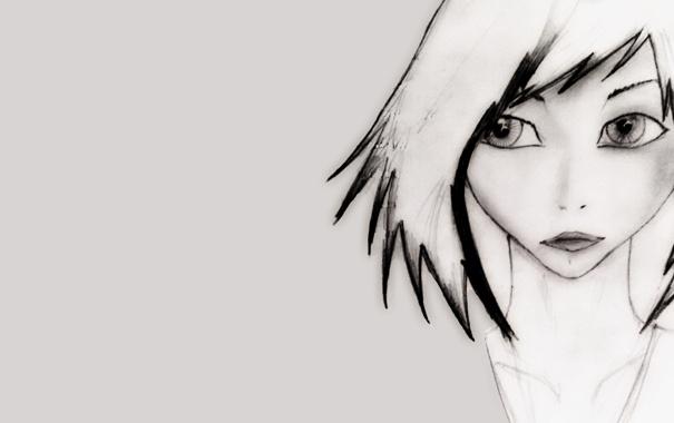 Фото обои глаза, взгляд, девушка, обои, рисунок, аниме, арт