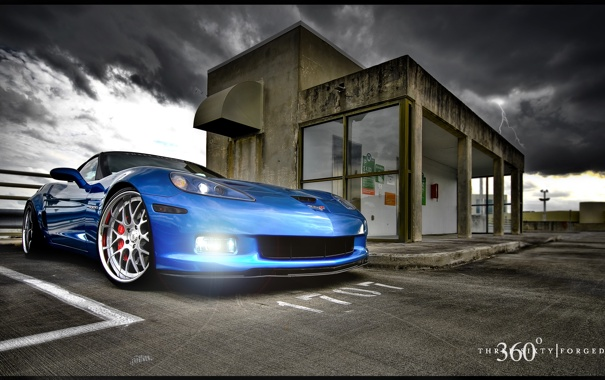 Фото обои Z06, Corvette, Mesh Eight, Blue Devil