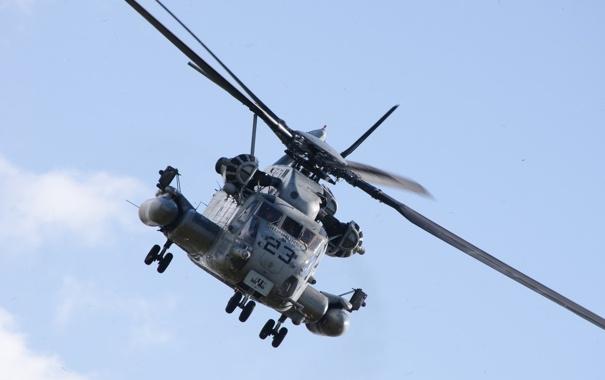 Фото обои полёт, вертолёт, военный, Sikorsky, транспортный, тяжёлый, CH-53