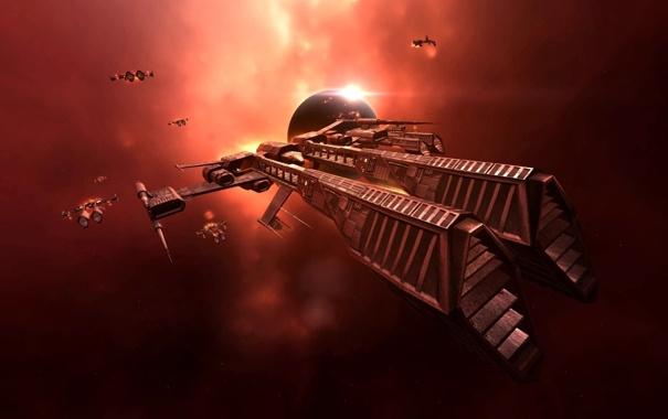 Фото обои космос, корабль, EVE Online
