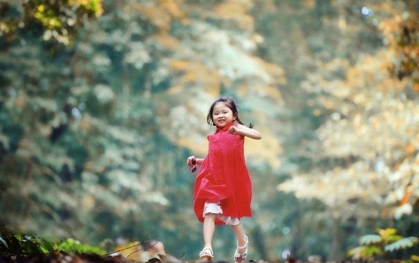Фото обои фон, настроение, девочка