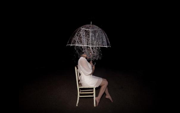 Фото обои girl, depression, art, loneliness