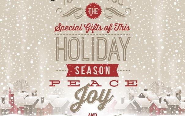 Фото обои Птицы, Vector, Merry Christmas, Special Gifts