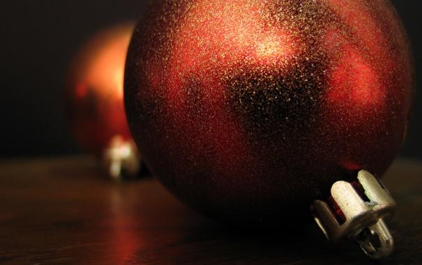 Фото обои праздник, шары, игрушки, цвет, новый год, new year, коричневый