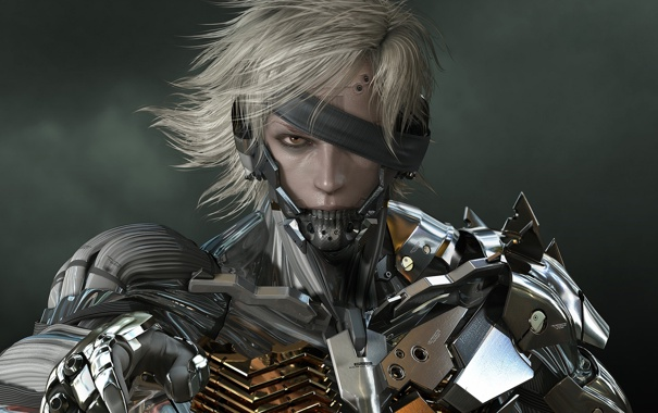 Фото обои metal gear solid, games, raiden, rising