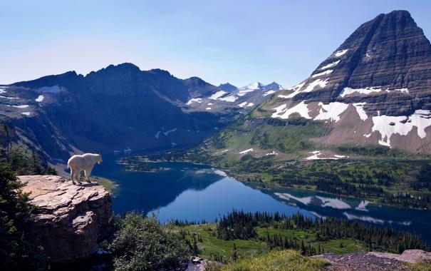 Фото обои пейзаж, горы, озеро, вид, высота, Природа