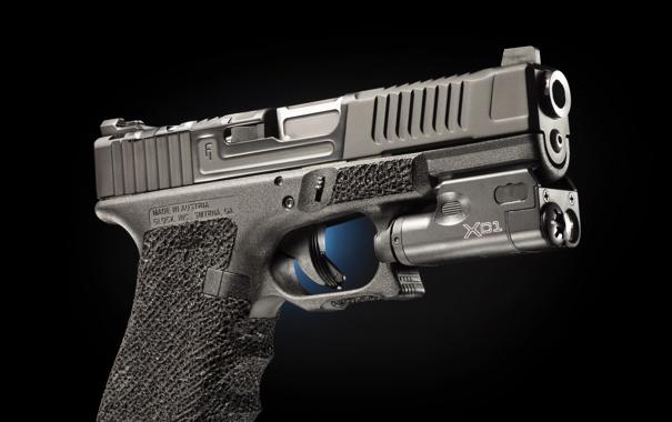 Фото обои пистолет, фон, Glock 19, Mark 1