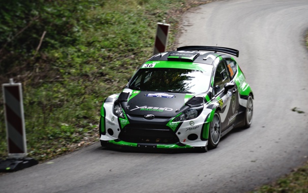 Фото обои Ford, Дорога, Спорт, Машина, Гонка, Асфальт, WRC