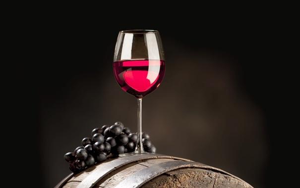 Фото обои вино, виноград, бочка