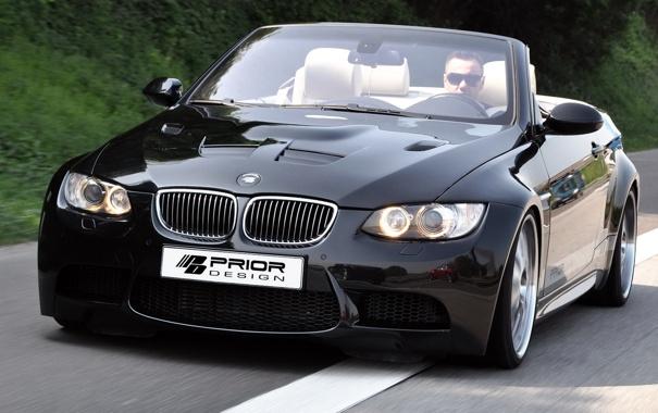 Фото обои чёрный, бмв, BMW, кабриолет, black, E93, Cabrio