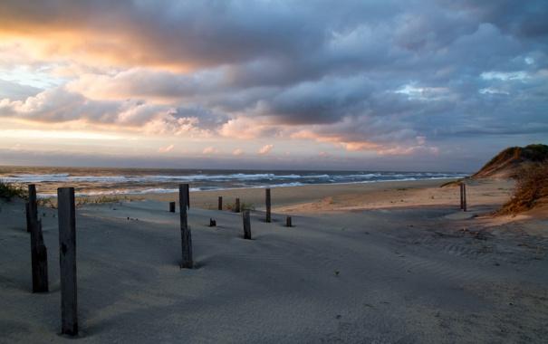 Фото обои море, пляж, утро