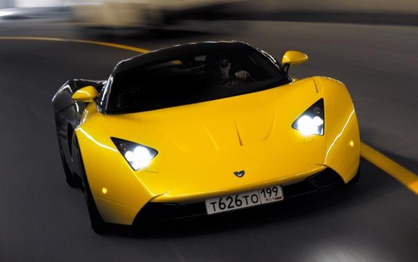 Фото обои Маруся, Автомобиль, Дорога, Жёлтый, Машины, Road, Автомобили