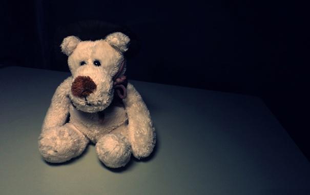 Фото обои одиночество, игрушка, медведь