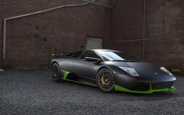 Фото обои авто, murcielago, lp 750, черно-зеленый, Lomborhini