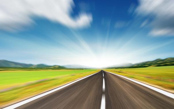 Фото обои дорога, пейзажи, дороги, скорость