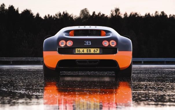 Фото обои orange, veron, buggati