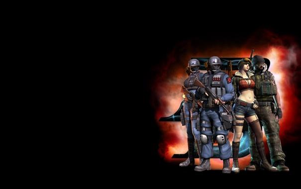 Фото обои команда, team, спецназ, Point Blank, терористы