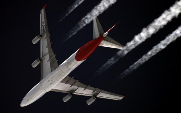 Фото обои небо, самолёт, боинг, авиалайнер