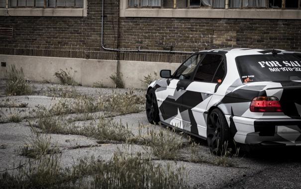Фото обои BMW, Тюнинг, БМВ, winter, Alpina, E38, 740il