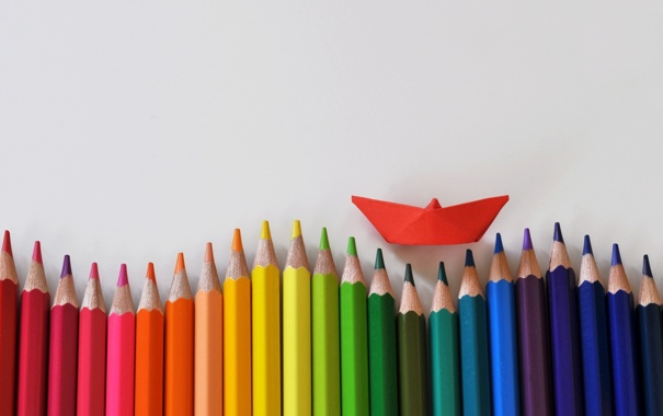 Фото обои цветные карандаши, wallpaper, background, полноэкранные, обои, HD wallpapers, фон