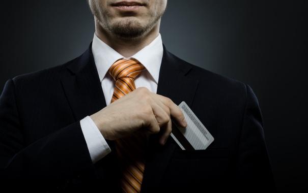 Фото обои entrepreneur, credit card, Rates, debit suit