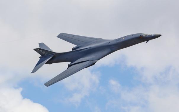 Фото обои Lancer, бомбардировщик, B-1B, стратегический, сверхзвуковой