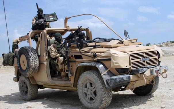 Фото обои джип, внедорожник, солдаты, армейский, пулемёты, panhard