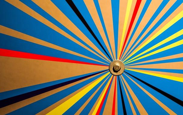 Фото обои лучи, линии, цвет, шестигранник, плоскость