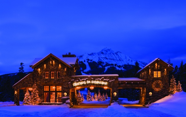 Фото обои city, город, USA, Christmas, California, South Lake Tahoe