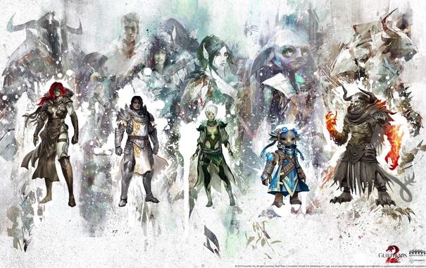 Фото обои Wars, герои, GW2, Guild