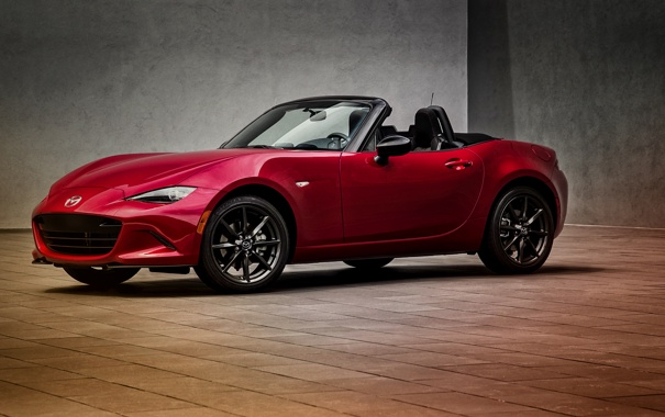 Фото обои Mazda, Miata, мазда, US-spec, MX-5, 2015