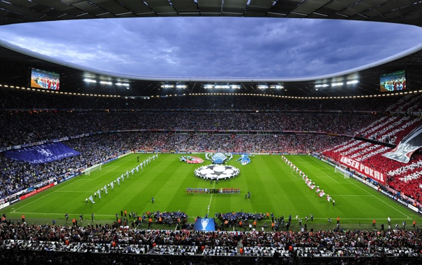 Фото обои бавария, болельщики, Альянс арена, лига чемпионов, челси, финал