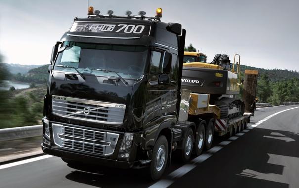 Фото обои Дорога, Volvo, Грузовик, FH16, 700, Трактор