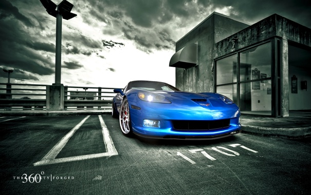 Фото обои Z06, Corvette, Mesh Eight, Blue Devil