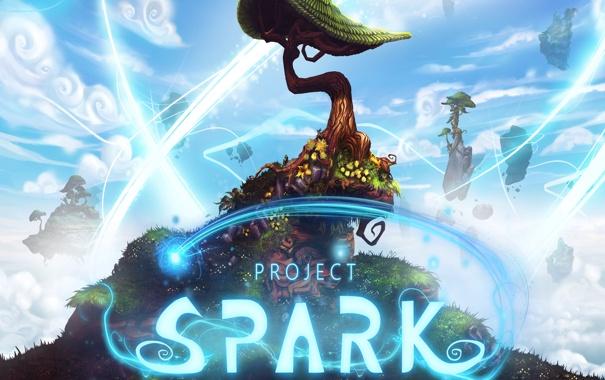 Фото обои дерево, Microsoft Studios, Project Spark, game maker